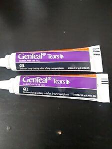 GenTeal Tears Eye Gel SEVERE Dry Eye 10g 2Tubes NO BOXES! Exp 20,21
