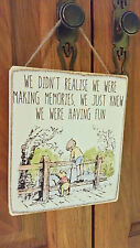 Winnie The Pooh Picture Quote Sign , Plaque. Solid Wood. Shabby chic gift. #P11