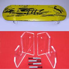 1 Pair Clear Acrylic Skateboard Mounts Deck Wall Hanging Brackets Display