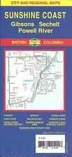 City & Regional Map of Sunshine Coast, British Columbia, Canada, by GMJ Maps
