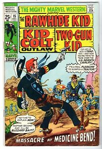 Mighty Marvel Western #15 with Rawhide Kid, Kid Colt & Two-Gun Kid, VF Condition
