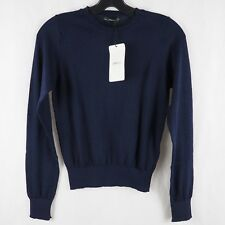 Zara Knit Collection Women s Sweater Long Sleeve Crew Neck Split Cuff Top  Blue S eccb59d19