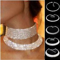 Lady Charming Crystal Rhinestone Collar Choker Necklace Wedding Birthday Jewelry
