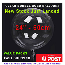"""18"""" 24"""" 36"""" CLEAR ROUND GIANT BUBBLE BOBO BALLOONS TRANSPARENT COMBO PACKS"""