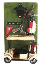 Wood And Metal Golf Buggy Cart Bottle Opener Beer Lover Golfing Gift