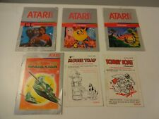 Atari 2600 Game Instruction Manuals Original from Coleco and Atari Lot of 6 GC