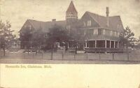Gladstone Michigan~Hawardin Inn~Nice Turret 1906 Postcard