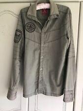 Mans Med Jack & Jones Vintage Denim Shirt Grey Pre Owned