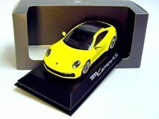 1:43 MINICHAMPS 2019 PORSCHE 911 992 Carrera 4S Coupe racing yellow DEALER !!!