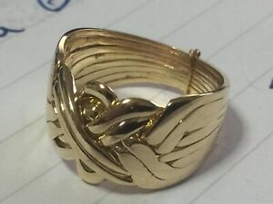 8k Gold  8 Band puzzle ring