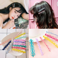 Girls Cute Candy Color Hairpins Snap Hair Clip Barrettes Clips Accessories Set