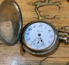 Running 1913 Illinois Full Hunter Gold Filled Antique Pocket Watch 15 Jewel
