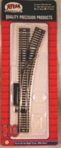 "Atlas #545 Right Manual 22"" Radius Switch Track -  HO Scale - Code 83  Rails"