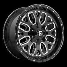 Fuel Titan 20x10 5x5.5/5x150 ET-18 Black Milled Wheels (Set of 4)