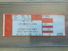 1988 Detroit @ LA Kings Ticket Stub 10/06/88 Wayne Gretzky LA Kings Debut Game!