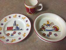 Vintage Tiffany & Co 3 Piece Plate Bowl Cup Children's Set