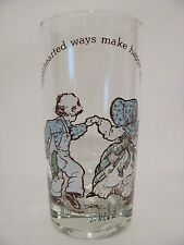 HOLLY HOBBIE American Greetings Corp 1978 Vintage Kitchen Water Glass HAPPY DAYS