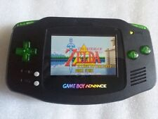 NINTENDO GAME BOY ADVANCE RETROILLUMINATO SP AGS 101 NERO CUSTOM