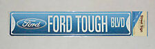 "Ford Tough BLVD Street Road Sign Tin 24"" x 5"" Mustang Mach 1 Boss 302 429 Shelby"