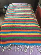 CALZEAT Of Scotland Rainbow Colored Blanket