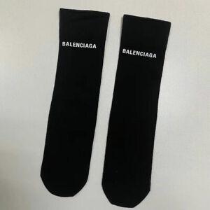 1 Pairs fashion Black Womens cotton socks high tube socks ladies socks Unisex