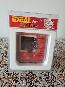 "Ideal Pet Products Cat pet Swinging Lockable Door,4 Way Lock, 6.25"" x 6.1/4""Flap"