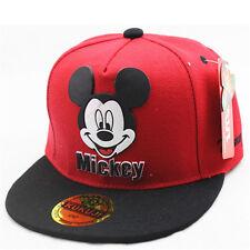Kids Boys Girls Mickey Mouse Baseball Cap Adjustable Outdoor Sport Snapback Hat