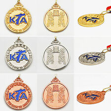 KTA Medals Gold Silver Bronze Korea Taekwondo Association Awards Ribbon TKD Gift
