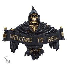 Welcome to Hell Decoratve Wall Plaque Door Sign Grim Reaper Nem3944