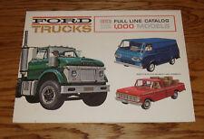 Original 1963 Ford Truck Full Line Sales Brochure 63 Pickup Ranchero Light Duty
