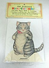 """MIP Kitty Cucumber Paper Doll 6 Outfits 4 Hats MIP 1983 Merrimack 4 3/4"""" SHP"""