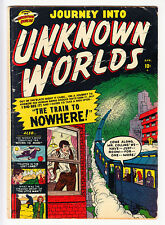 JOURNEY INTO UNKNOWN WORLDS #4 HEATH, MOONEY ATLAS 1951