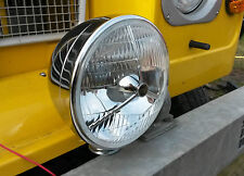 "Classic Vintage Car Van Lorry Tractor Chrome Headlight 7"" Headlamp Bowl & Loom"