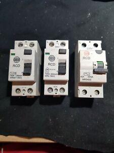 WYLEX RCD WRS40/2 WRL100/2 WRMT100/2 40A 100A 30/100/300/mA