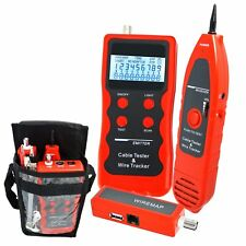 Cable Tester Network Scanner Phone Wire Tracker STP/UTP LAN RJ45 RJ11 BNC 5E 6E