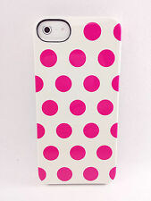 Incase iPhone SE iPhone 5 5S Snap Hard Shell Snap Cover Case White Pink Dots