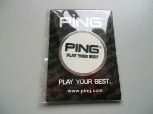 Large, flat, heavy Ping golf ball marker (brand new)