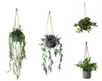 Artificial Plant in Pot Fake Planter w Hanging Pot Party Office Home Decor