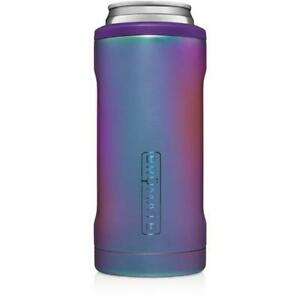 Brumate Hopsulator Cooler Tumbler 12 oz Slim Can Drink Holder DARK AURA