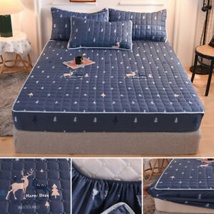 Waterproof Sheets Quilted Mattress Cover Bed Sheet Bedspread Mattress Toppers