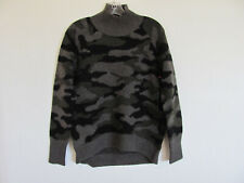 Cynthia Rowley Turtleneck Sweater-Wool Blend-Camo-Olive,Black,Gray-Size Med-NWT