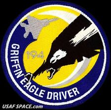 USAF 194TH FIGHTER SQ- GRIFFIN EAGLE DRIVER - March ARB, CA - ORIGINAL VEL PATCH