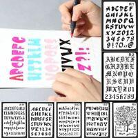 scrapbooking buchstaben des alphabets wandmalerei schichtung schablonen - spray