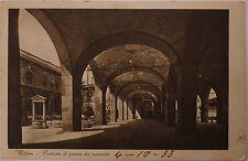 Cartolina Milano Porticato di piazza dei mercanti Viaggiata Lago Maggiore