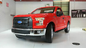 Ford F150 F-150 2015 4x4 1:24 Scale Pickup Diecast Model Car LGB Red Ute Welly