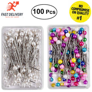 Dressmaking Pearl fine Glass Head Tailors Pins Quilting Sewing Craft Assorted UK