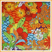 BonEful Fabric FQ Cotton Quilt VTG L CANCUN Island Beach Tropical Rainbow FLOWER
