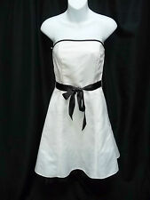 Juniors Jessica McClintock Short Ivory Strapless Summer Party Prom Dress Size 5