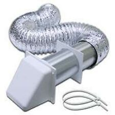 "NEW LAMBRO 1375W 4"" X 8 FOOT WHITE ALUMINUM DRYER VENT FULL KIT WITH HOOD"