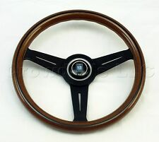 Nardi Steering Wheel Classic Wood with Black Spokes 330 mm New 5061.33.2000
